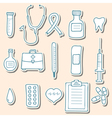 Medical icons Stickers vector image