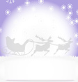 Christmas card with Christmas landscape vector image vector image