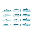 icons fish vector image vector image
