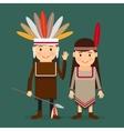 American indians children vector image vector image