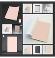 Blank Page Template Lock Screen for Mobile Apps vector image