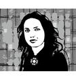 Girl Face Black vector image vector image