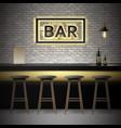 Bar pub interior vector image