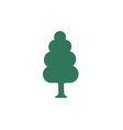 Deciduous forest icon vector image