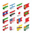 flags of the world asia set 2 vector image