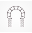Flat icon for horseshoe arch vector image