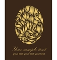 Floral gold Easter card vector image