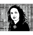 Girl Face Black vector image