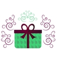 Green gift with ribbon vector image