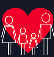 Healthcare Concept Family on the Background with vector image