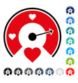 love gauge icon vector image