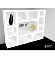 Shelf template vector image