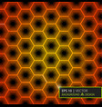 virtual futuristic user interface of hexes vector image