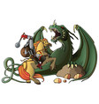 warrior and dragon vector image