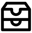 Account Boxes Stroke Icon vector image