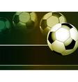 flying footballl vector image vector image