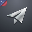 Paper airplane icon symbol 3D style Trendy modern vector image