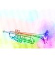 Brass Trumpet Iridescen colours vector image vector image