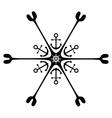 Nautical ornament Anchor Rudder vector image