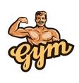 gym logo sport fitness or bodybuilding vector image