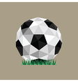 abstract paper origami soccer ball vector image