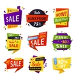 Black friday stickers or tags labels for selling vector image