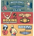 Boxing Horizontal Banners Set vector image