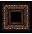 Frame with ethnic handmade ornament for your vector image