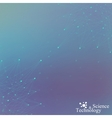 Geometric blue background molecule and vector image