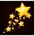 gold star black background design vector image