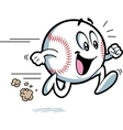 Happy Running Baseball vector image