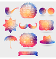 Hipster background made of geometric pattern Retro vector image