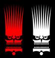 Savage mask vector image
