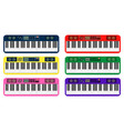 set of color flat style piano roll analog vector image