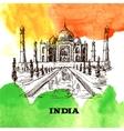 Taj Mahal sketch vector image
