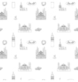 Black and white Istanbul tourist print seamless vector image