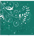 Abstract Christmas floral design vector image
