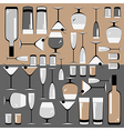pattern of the glasses and bottles of wine vector image vector image