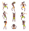 african tribe members warriors and civilians in vector image