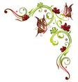 Flowers butterflies vector image vector image