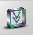 3d of a download symbol vector image