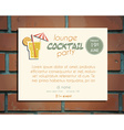 Lounge cocktail party poster invitation template vector image