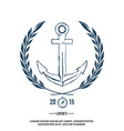 Anchor with laurel Design elements T-shirt print vector image vector image