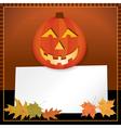 Halloween Jack o Lantern with Copyspace vector image