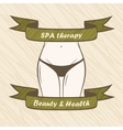 Female body Spa health fitness banner vector image