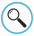 Magnifier Flat Rounded Icon vector image