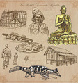 Laos Pictures of Life Colored pack vector image