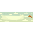 Biplane with banner vector image