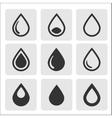 black drop icons vector image