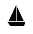 Boat marine icon vector image